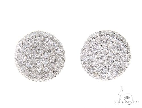 10K Yellow Gold Round Shape Diamond Stud Cluster Earrings 65147 Stone