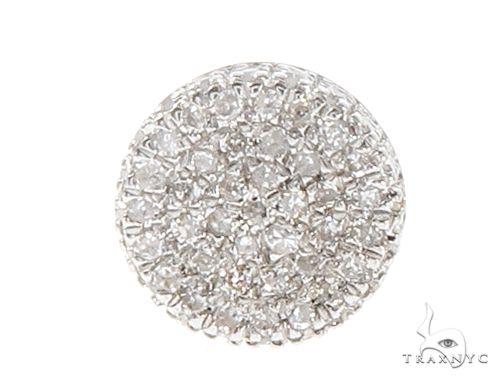 10K Gold Round Shape Diamond Stud Cluster Earrings 65147 Stone