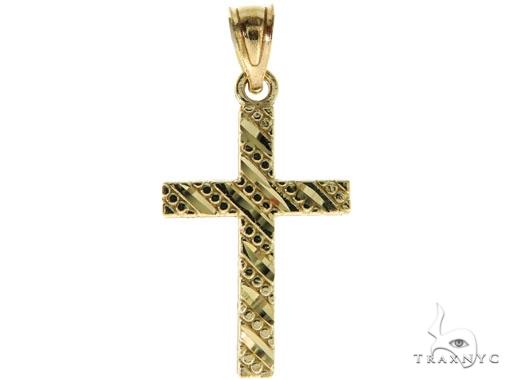 10K Yellow Gold Small Cross Crucifix 57103 Gold
