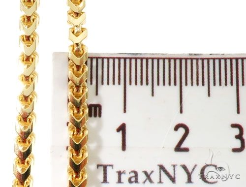 10K Yellow Gold Solid Franco Link Chain 26 Inches 4mm 39.0 Grams 63981 Gold