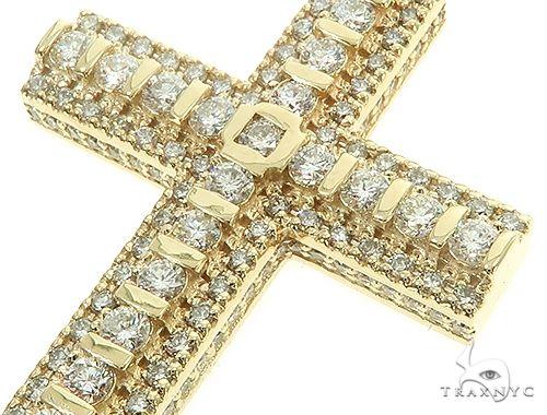 10K Yellow Gold Tension Diamond Cross 65877 Metal