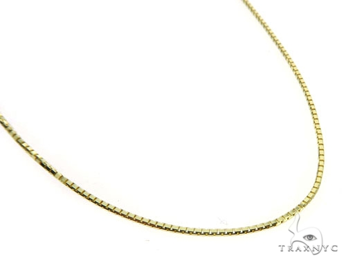 10K Yellow Gold Tooth Pendant Box Link Chain Set 57226 Metal