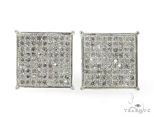 10KW Micro Pave Diamond Earrings 57303 Stone
