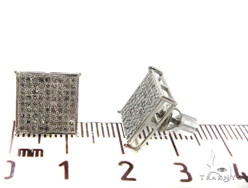 10KW Micro Pave Diamond Earrings 57303 Stone