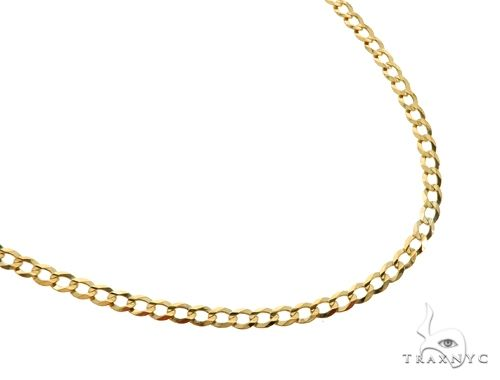 10KY Cuban Curb Link Chain 20 Inches 3.5mm 4.90 Grams 63772 Gold