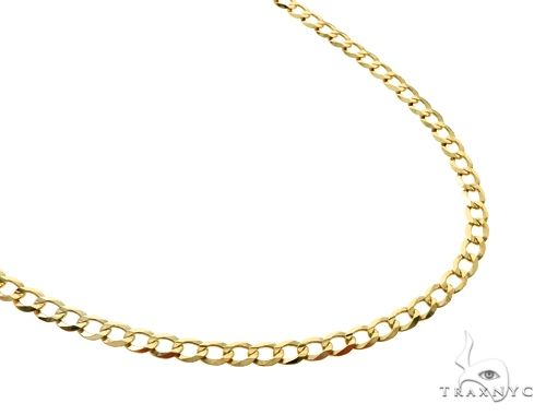 10KY Cuban Curb Link Chain 20 Inches 4mm 7.0 Grams 63789 Gold