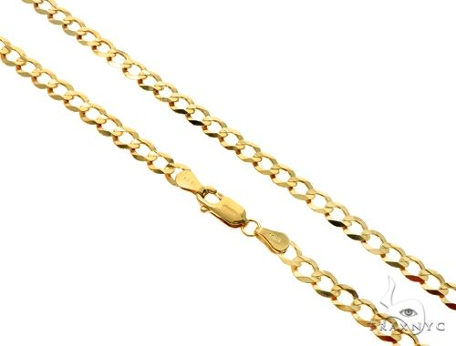 10KY Cuban Curb Link Chain 20 Inches 5mm 10.20 Grams 63794 Gold