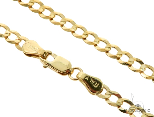 10KY Cuban Curb Link Chain 24 Inches 3.5mm  5.53 Grams 57245 Gold