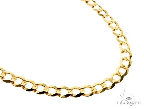 10KY Cuban Curb Link Chain 24 Inches 5mm 12.0 Grams 63795 Gold
