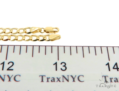 10KY Cuban Curb Link Chain 26 Inches 4mm 9.40 Grams Gold