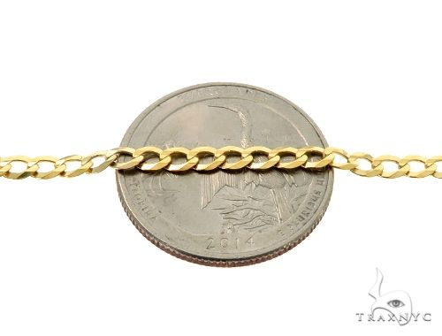 10KY Cuban Curb Link Chain 28 Inches 3.5mm 7.00 Grams 63774 Gold
