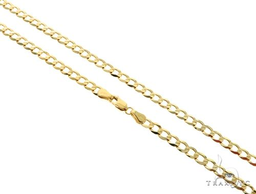 10KY Cuban Curb Link Chain 28 Inches 4mm 9.9 Grams 63792 Gold