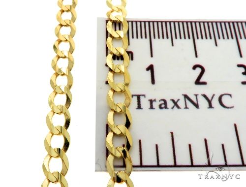 10KY Cuban Curb Link Chain 28 Inches 5mm 14.0 Grams 63796 Gold