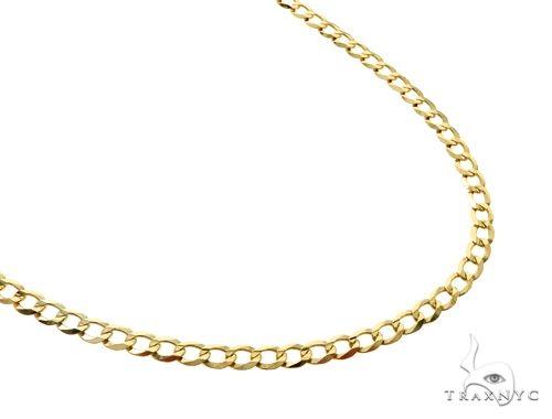 10K YG Cuban Curb Link Chain 32 Inches 4mm 10.9 Grams  63793 Gold