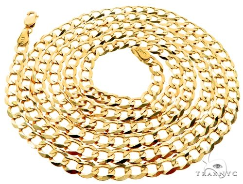 10KY Cuban Curb Link Chain 32 Inches 4mm 10.9 Grams 63789 63793 Gold