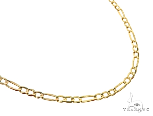 10KY Figaro Link Chain 30 Inches 3mm 7.20 Grams 57256 Gold