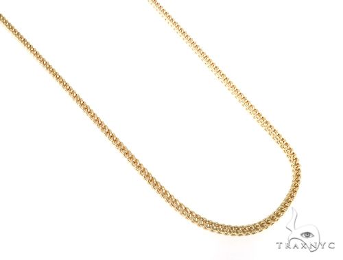 10KY Hollow Franco Link Chain 20 Inches 2mm 6.7 Grams 57649 Gold