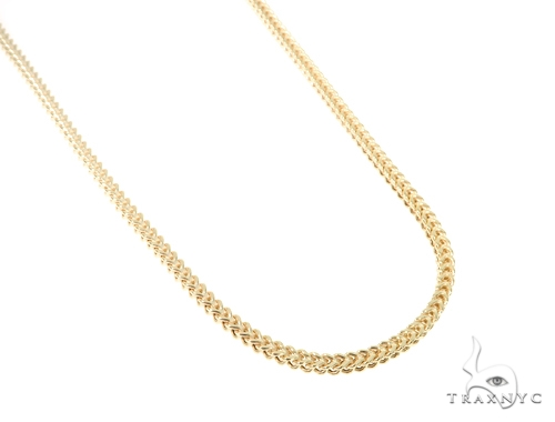 10KY Hollow Franco Link Chain 28 Inches 4mm 20.3 Grams 57638 Gold