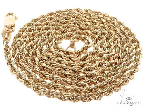 10KY Rope Link Chain 22 Inches 2mm 2.91 Grams 57275 Gold