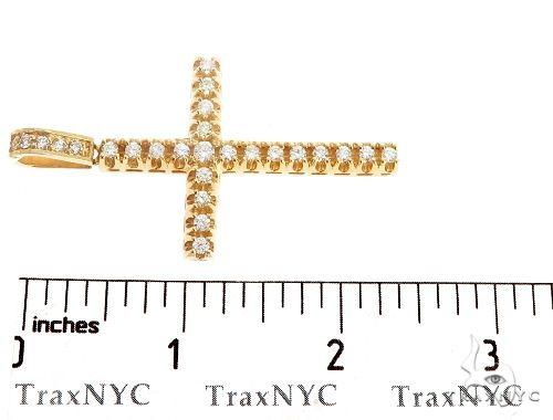 10k Diamond Cross Pendant 64928 Metal