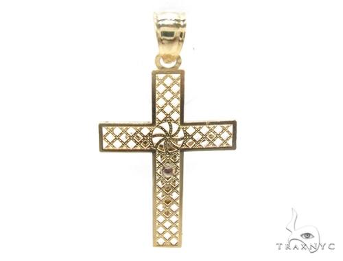 10k Gold Cross Crucifix 34852 Gold