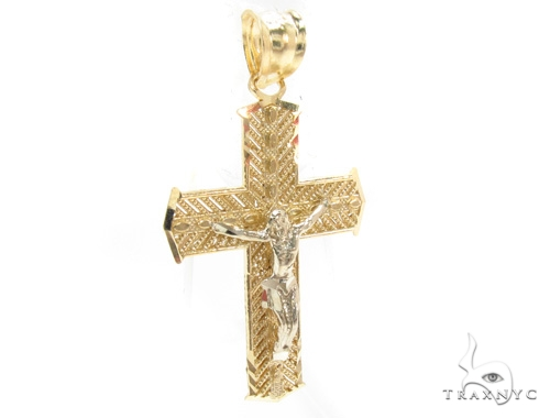 10k Gold Cross Crucifix 34855 Gold