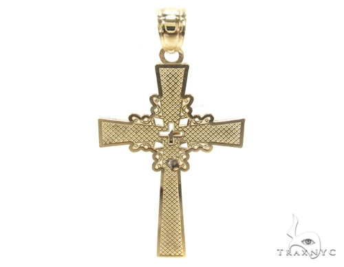 10k Gold Cross Crucifix 34863 Gold