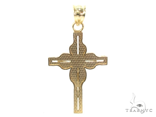 10k Gold Cross Crucifix 34876 Gold