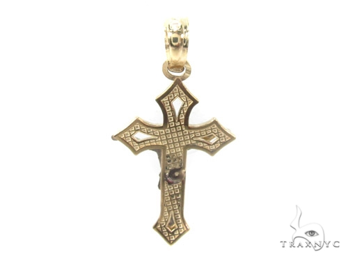 10k Gold Cross Crucifix 34880 Gold