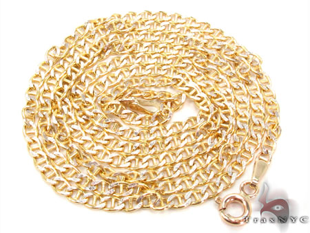 10k Gold Mariner Chain 24 Inches 3mm  3.40 Grams Gold