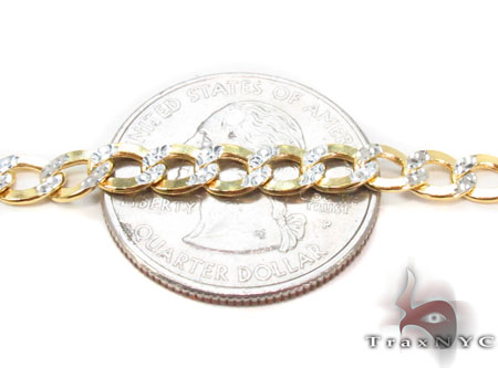 10k Gold Diamond Cut Cuban Link Chain 24 Inches 3.5mm 5.7 Grams Gold