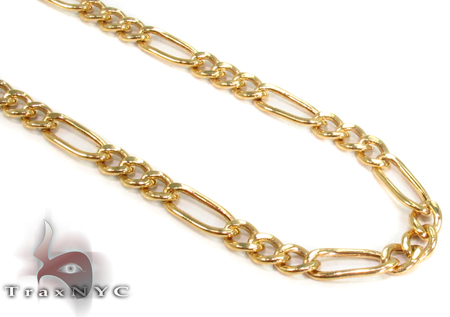 10k Gold Figaro Chain 26 Inches 3mm 5.02 Grams Gold