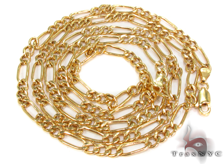 10k Gold Figaro Chain 28 Inches 4mm 8.36 Grams Gold