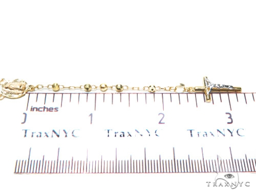 10k Gold Rosary Chain 30 Inches 3mm 6.5 Grmas 42315 Gold