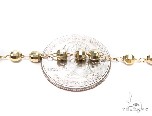 10k Gold Rosary Chain 30 Inches 4mm 8.9 Grmas 42313 Gold
