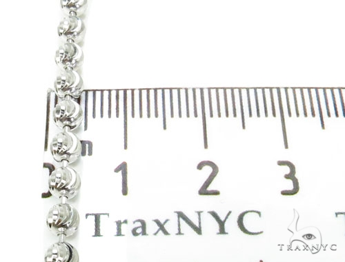10k White Gold Bead Chain 32 Inches 4mm 35 Grams Gold