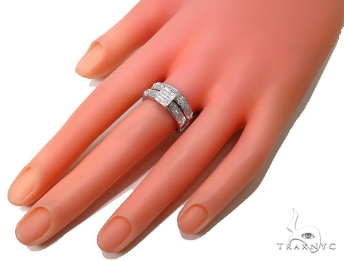 10k White Gold Prong Diamond Wedding Set-39968 Engagement