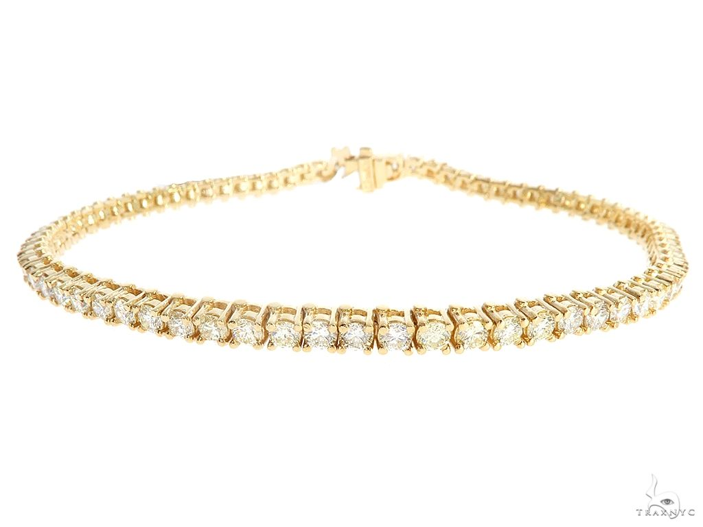 10k YG 3.5mm Diamond Tennis Bracelet 64874 Diamond