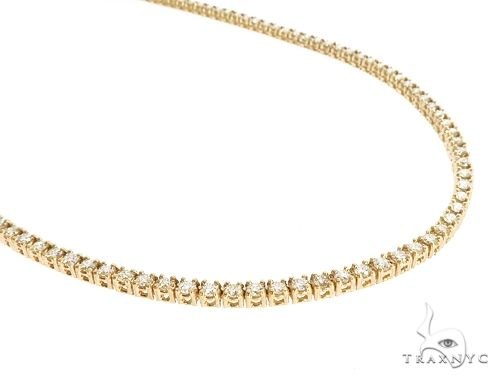 10k YG 3mm Diamond Tennis Necklace 64858 Diamond