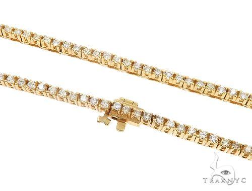 10k YG 3mm Diamond Tennis Necklace 64880 Diamond