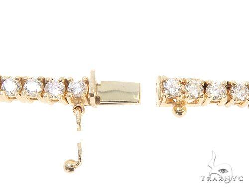 10k YG 4.5mm Diamond Tennis Necklace 64865 Diamond