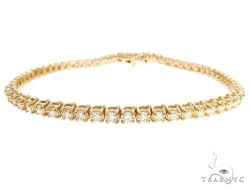 10k YG 4mm Diamond Tennis Bracelet 64873 Diamond
