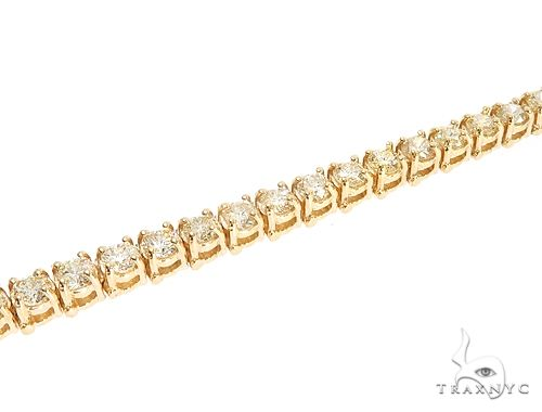 10k YG 4mm Diamond Tennis Bracelet 64873 Diamond