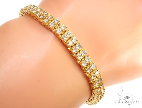 10k YG 5.5mm Diamond Tennis Bracelet 64872 Diamond