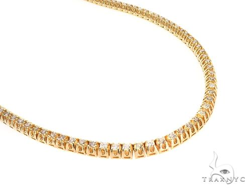 10k YG 7mm Diamond Tennis Necklace 64866 Diamond