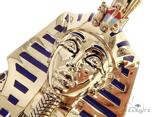 10k YG Custom Pharaoh King Tut Pendant 64836 Metal