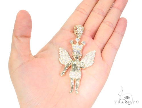 10k Yellow Gold Angel Pendant 44220 Metal