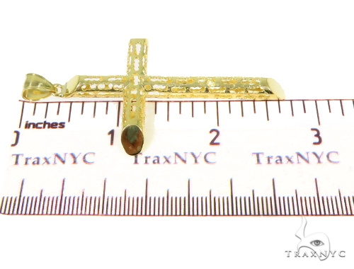 10k Yellow Gold Cross Crucifix 44417 Gold