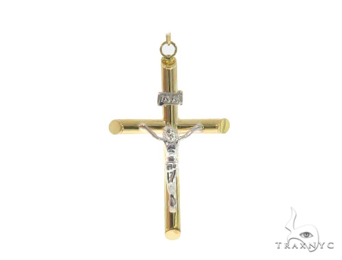 10k Yellow Gold Cross Rosary 44305 Gold