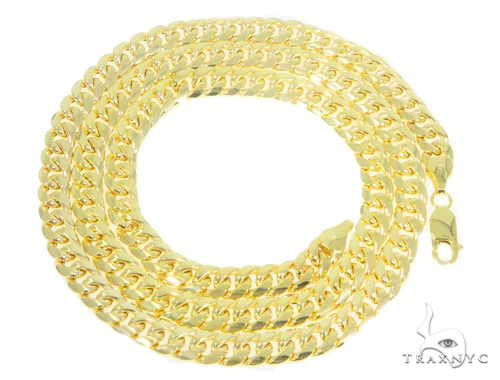 10k Yellow Gold Cuban/Curb 24 Inches 7mm 26 Grams 44296 Gold